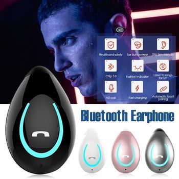 Bezprzewodowy zestaw słuchawkowy Bluetooth pojedyncze ucho bez ucha klips do ucha ucha słuchawki Stereo Mini zestaw głośnomówiący słuchawki sportowe беспроводные наушники tanie i dobre opinie Erilles CN (pochodzenie)