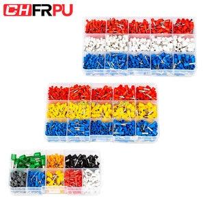 400pcs/Box 990pcs/Box Ferrules kit set Wire Copper Crimp Connector Insulated Cord Pin End Terminal