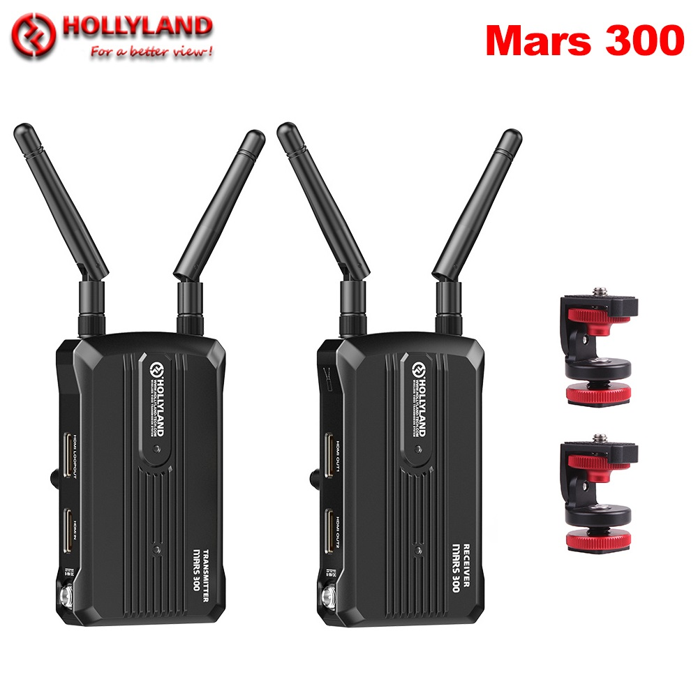 Hollyland Mars 300 Wireless Transmission System Transmitter & Receiver Kit 300ft 1080P 60Hz For SLR Mirrorless Cameras Gimbal