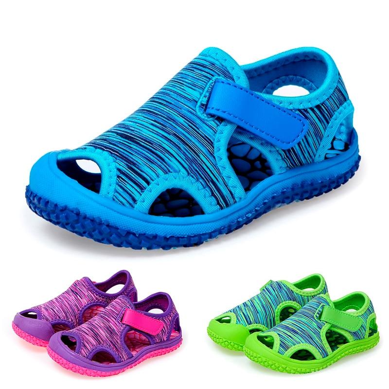 Summer Baby Boys Girls Sandals Childrens Aqua Sport Sandals Soft Non-slip Toddler Infant Shoes Kids Outdoor Beach Water Shoes