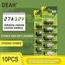 10PCS Nova Dry 27A 12V A27 Bateria Alcalina Para Campainha de alarme de Carro de controle Remoto G27A MN27 MS27 GP27A L828 V27GA ALK27A A27BP