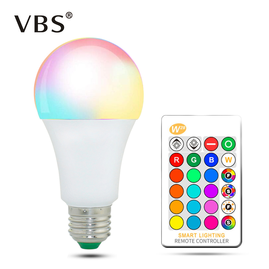 Color Changing Light Bulb With Remote Dimmable LED Light Bulbs E27 E26 RGB 16 Color Choices 5 10 15 Watt For Home Decor Party