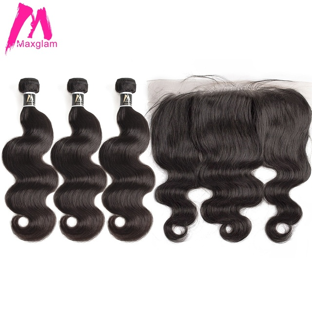 human hair bundles with frontal body wave short natural brazillian hair extension weave preplucked 3 bundles for black women