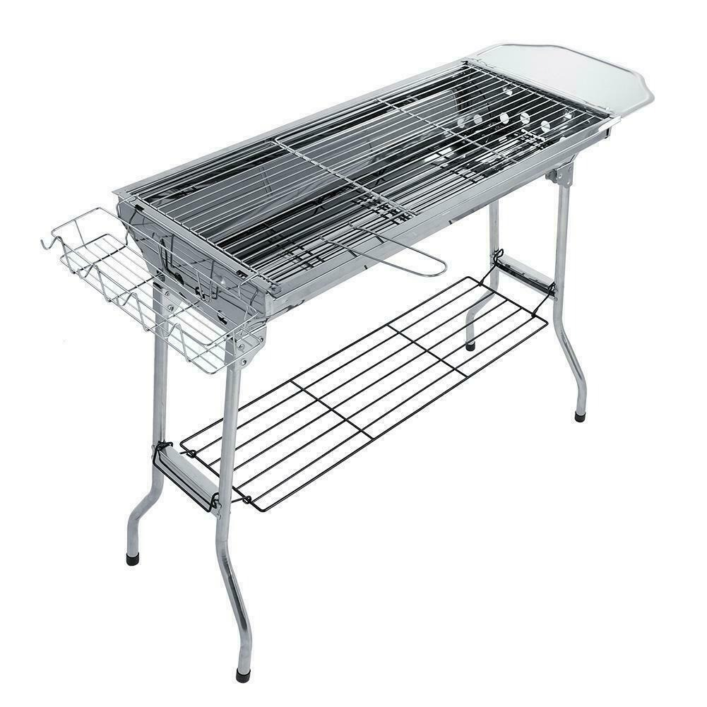Outdoor Portable Barbecue Grill Folding Charcoal Stand For Picnic Camping Stove