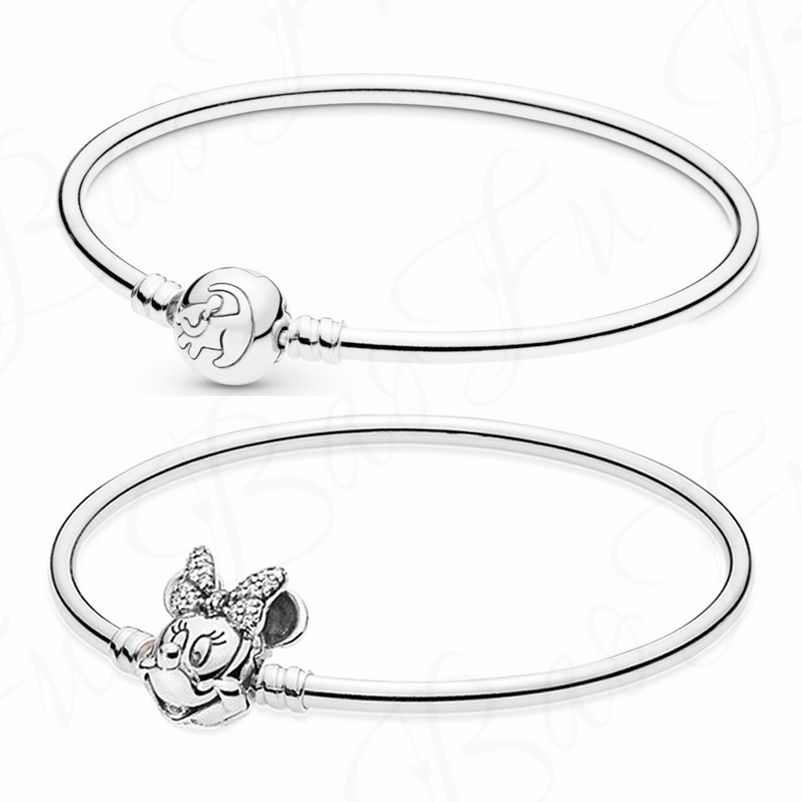 Baofu 100% 925 Sterling Silver Bracelet Charm Lion King Series Cartoon Birthday Party Gift High-end Jewelry