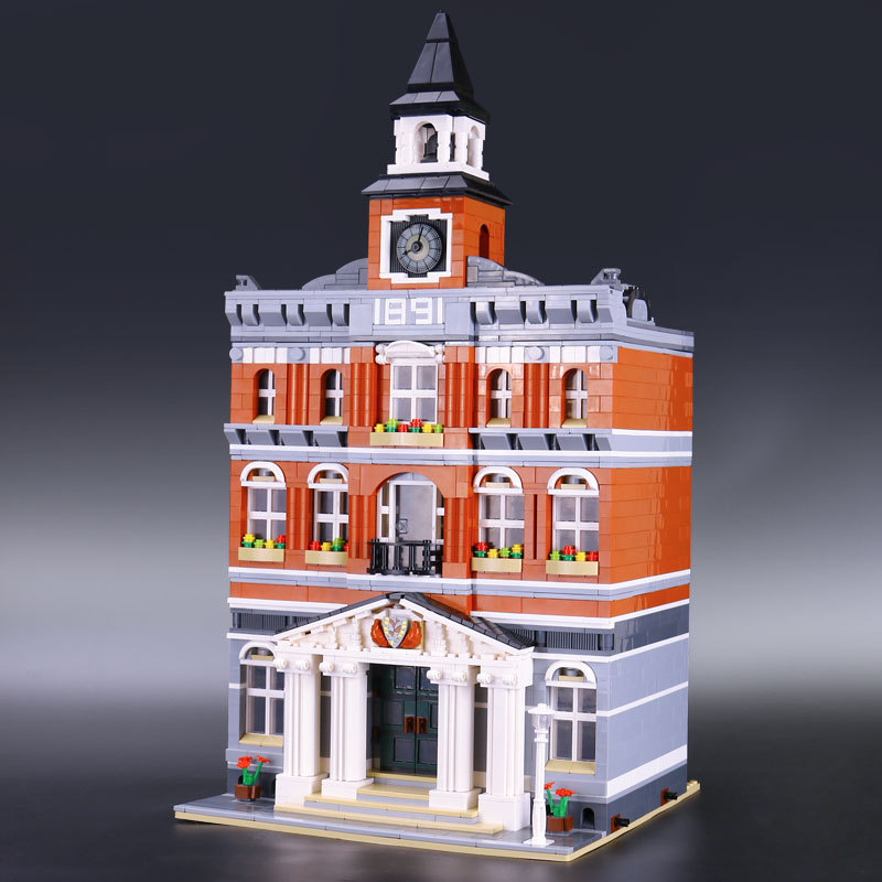15003 Creators the city hall model Building Blocks set Compatible with Legoings 10224 classic house architecture toys 2