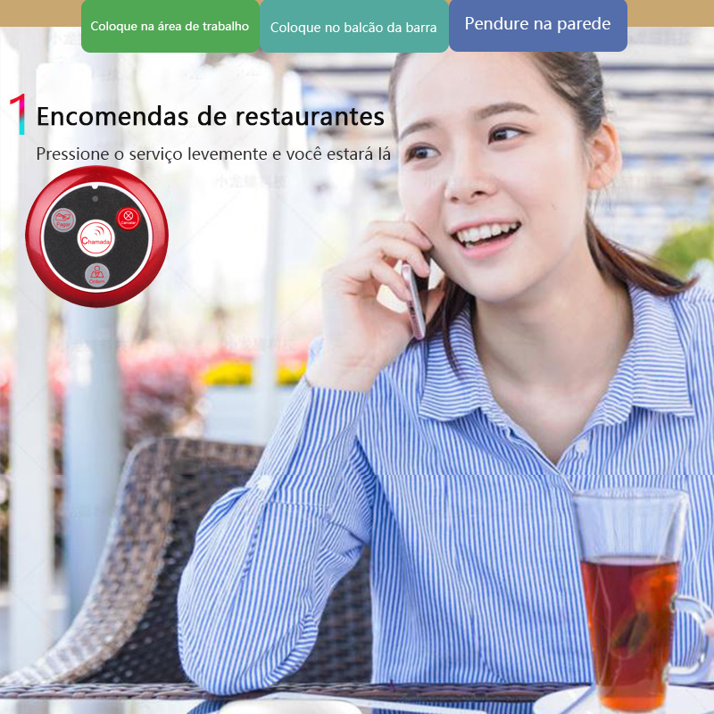 Top SaleRetekess Pager Restaurant Calling-System Call-Button Waiter Wireless Catering T117 10pcs