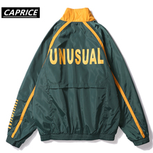 Hip Hop Windbreaker Overcoats Men Jackets 2018 Vintage Color Block Windbreaker Zip Up Casual Streetwear Jacket недорого