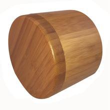 цена на Salt Box, Bamboo Storage Box with Magnetic Swivel Lid, Salt Engraved on Lid Engraved - SALT