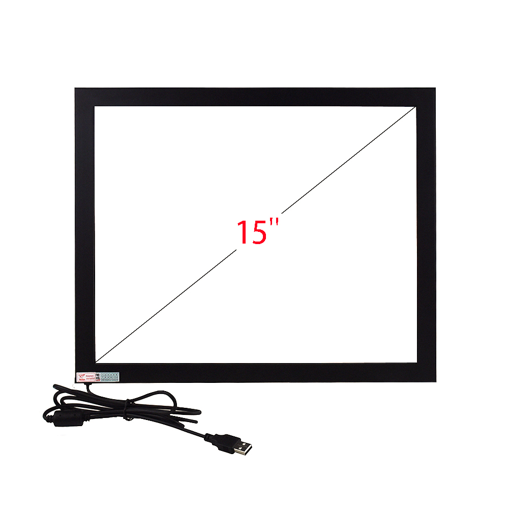 15inch 4:3 Multi IR Touch Screen Panel 347.5*272mm 1 2 4 6 10 Point Touch Screen USB Interface