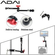 "ADAI 7 ""11"" süper kelepçe ayarlanabilir sihirli kol sihirli mafsallı kol montaj monitör LED ışık Video flaş kamera DSLR"