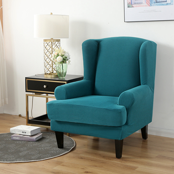 Velvet Couch Slipcover For Wingback Chairs 2 Chair And Sofa Covers