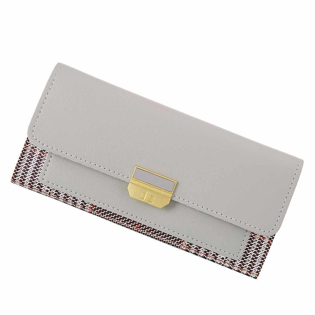 女性財布クラッチチェック柄財布ハスプ女性レディースホット変更女性ラグジ電話カードホルダー女の子のための 8 ホット