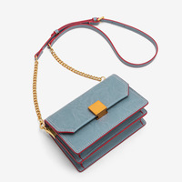 Newhotstacy Bag 083019 Retro classic Square PU Pure coloured Women s Bag cross body flap single shoulder bag