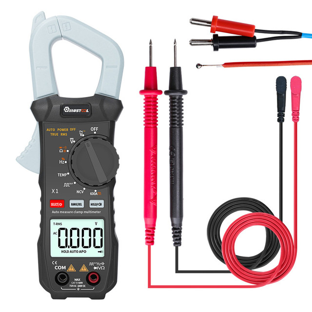 MUSTOOL X1 6000 Counts True RMS Clamp Meter Digital Multimeter Automatic Digital Meter With Square Wave Output /V/A/Diode Test