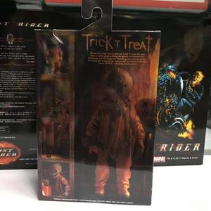 Image 5 - 18cm NECA Trick R Treat Sam Clothed With Bag Lollipop Halloween 2007 Action Figure Classic Film Movie Toys Christmas Doll Gift
