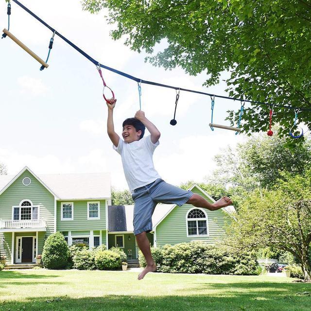 Children Climbing Ninja Rope Ninja Line Obstacle Training Equipment Kids Fun Slack Line Outdoor Kids Sports Equipment