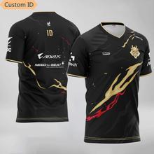 G2 esports equipe uniforme jérsei o pescoço dos homens t camisa id personalizado casual oversize moletom manga curta 3d impresso streetwear t