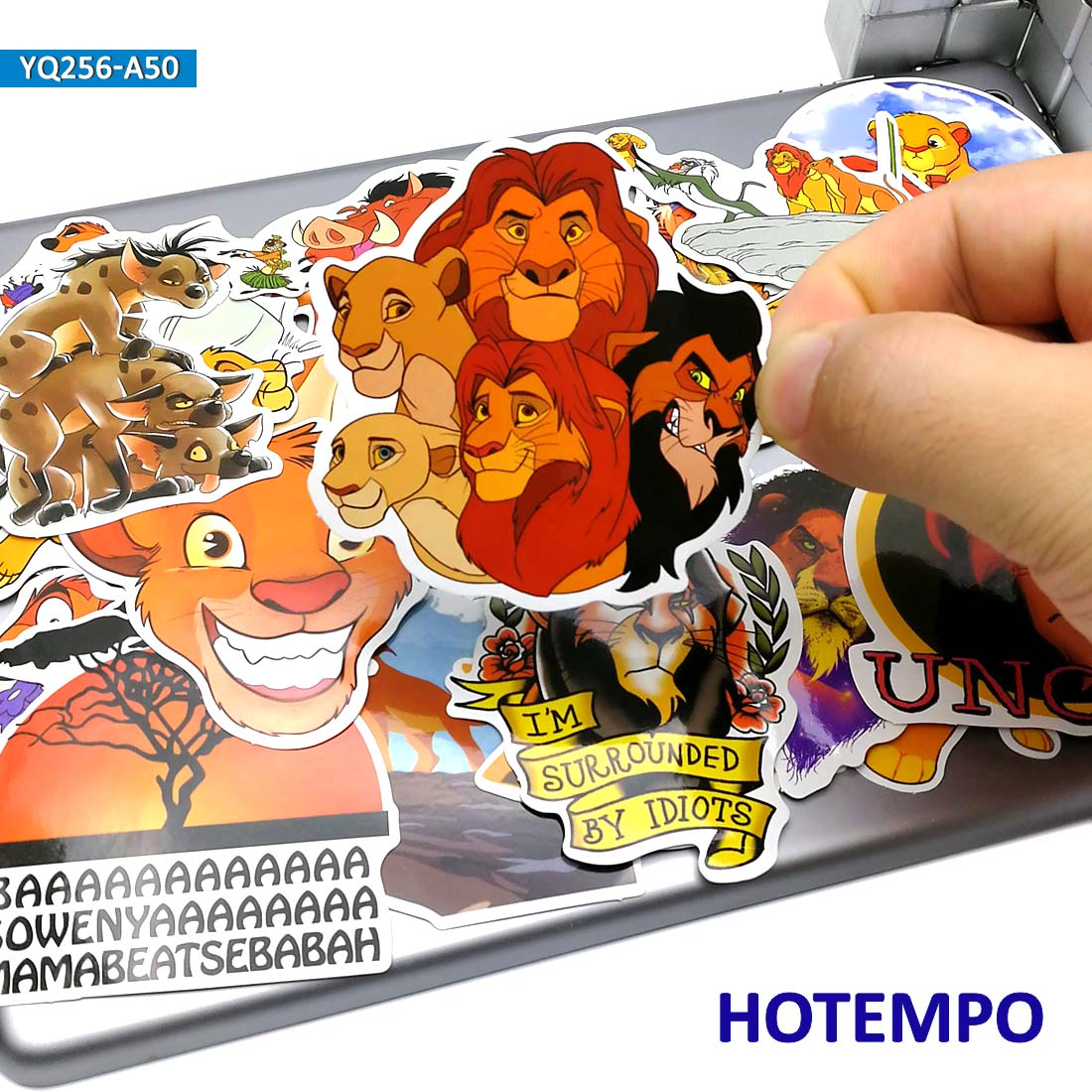 50pcs Cartoon The Lion King Stickers For Kid Gift DIY Mobile Phone Laptop Luggage Suitcase Skateboard Fixed Gear Decal Stickers