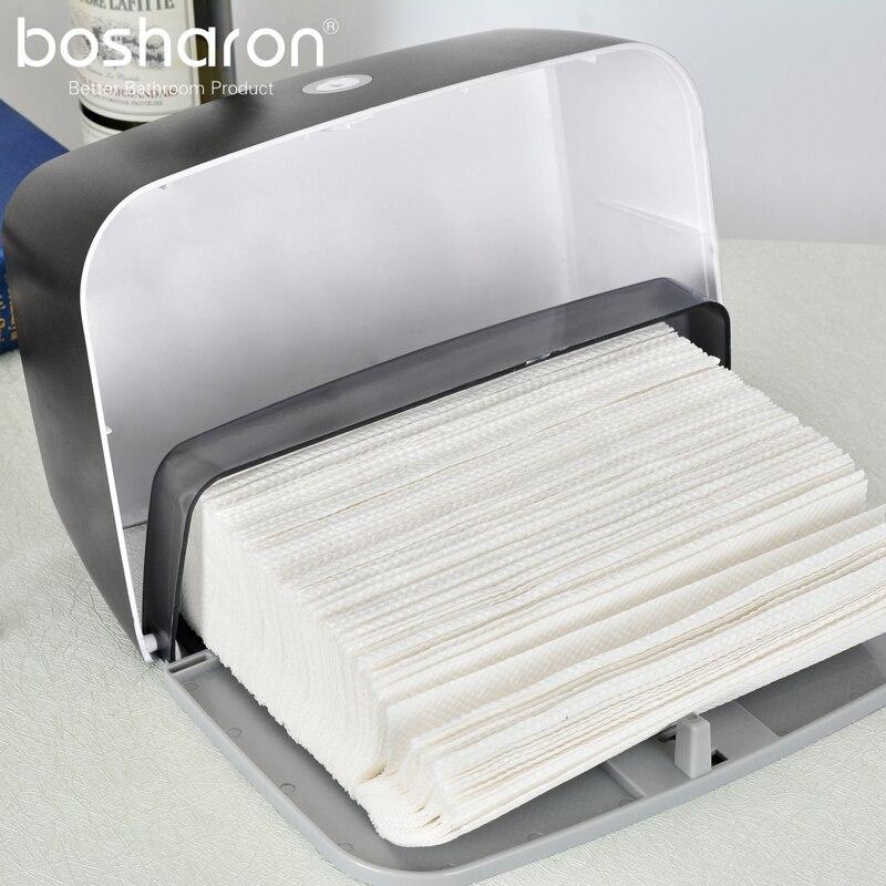 Bosharon бумага полотенце диспенсер настенный навесной сложенный тройной бумага полотенце диспенсеры для офиса дома кухни коммерческого использования