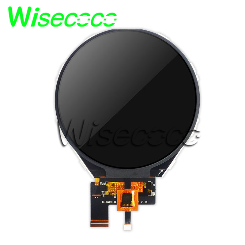 Wisecoco Circle Tft Lcd 800x800 3.4 Inch Round Circular IPS Lcds Screen +capacitive Touch Panel For Diy Project