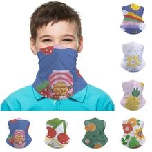 Bandana Scarf Polyester Headwear Petals Magic-Tube Cycling Fruit Outdoor Sport Kids Face/mask/Neck-dual-use