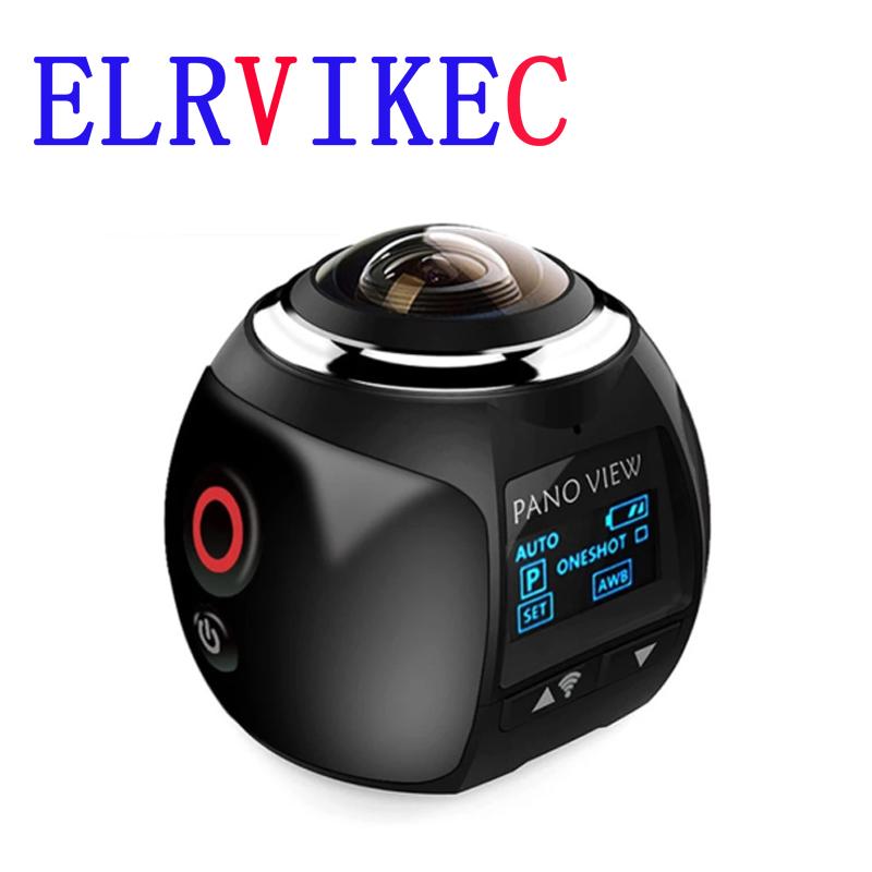 ELRVIKEC 4K 360 Action Camera Wifi Mini 2448*2448 Ultra HD Mini Panorama Camera 360 Degree Sport Driving VR Camera HDV