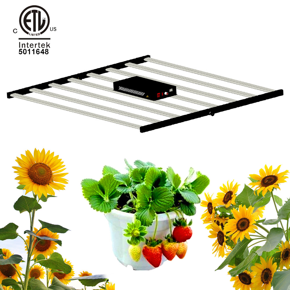 New Led Grow Light 630W Folding Horticulture Commercial Plant Grow Lamp Bar Fixture