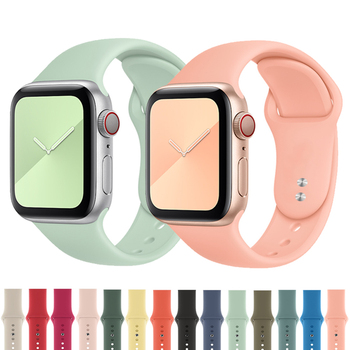 Sport band for Apple watch strap 44mm 40mm apple watch 5 4 3 2 silicone bracelet belt correa iwatch 42mm 38mm watch Accessories