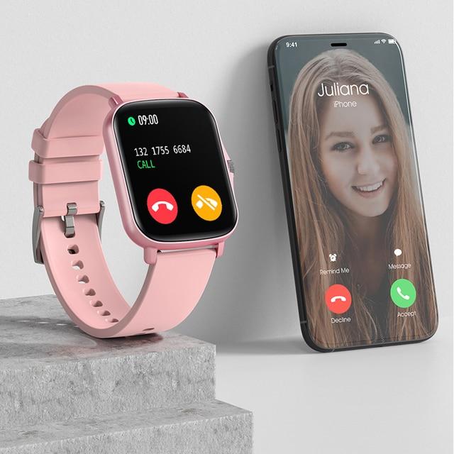MAFAM  P8 Plus 1.69 inches Smart Watch Men Women Full Touch Fitness Tracker Waterproof Smartwatch 2021  For huawei xiaomi phone 4
