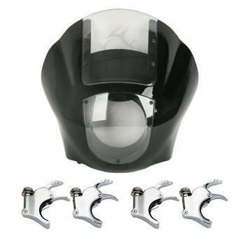цена на Motorcycle Quarter Headlight Fairing Windshield 39 49mm Fork Clamp For Harley Sportster XL 1200 883 Dyna