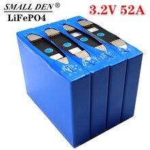 1-4 Uds 3,2 v 52Ah lifepo4 batería de 3,2 v para el paquete de batería de bicicleta eléctrica de 12v 24v inversor de energía solar de carrito de golf