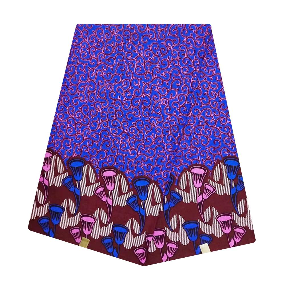 New Holland Ghana African Super Wax Fabric Cotton Veritable Dutch Block Print Nigerian Tissu Wax Pange Materials For Batik Dress