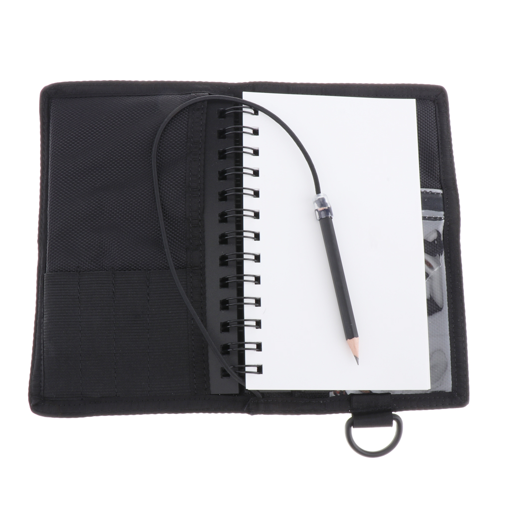 Waterproof Wet Notes Notepad Underwater Notebook With Pencil, Black Cover For Scuba Diving Snorkeling