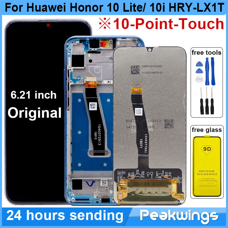 100% New LCD For Huawei Honor 10 Lite LCD Display+Touch Screen Assembly With Frame For honor 10 lite 10i HRY-LX1T LCD Display(China)