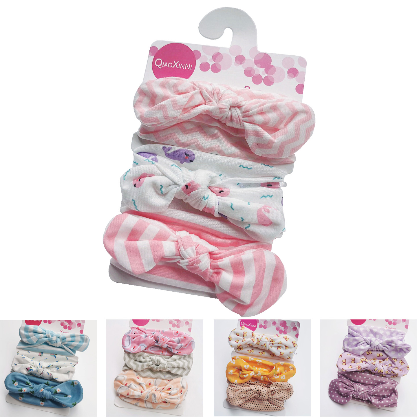 3pcs / Set Polyester Baby Headband Bow Headbands For Cute Girls Kids Hair Girls Turban Floral Hairband Children In Soft Cotton