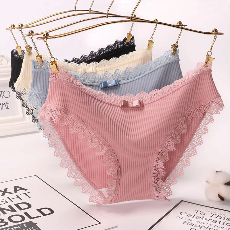 Sexy Lace Panties Women's Cotton Underwear Seamless Cute Bow Women's Briefs Soft Comfort Lingerie Fashion Female Sexy Underpants