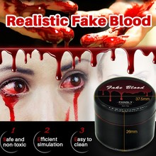 Halloween Terror Fake Joke Ultra realistic Fake Blood Makeup Face Body Paint Wounds Simulation Props Festival Party Supplies on AliExpress