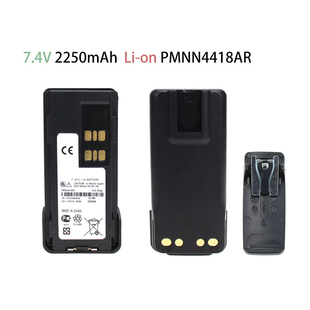 2250mAh PMNN4418 Battery For Motorola P6600 P6620 XPR 3000E XPR3300e XPR3500e DP2000e Series DP2400 DP2600 DEP 550eTwo Way Radio