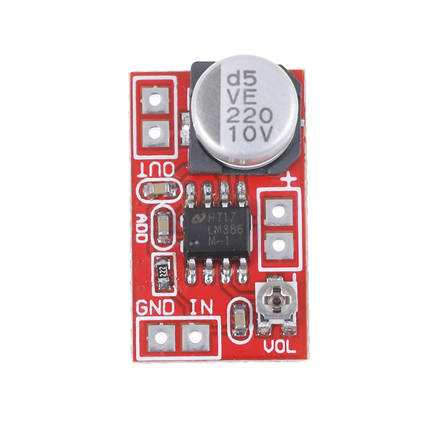 مكبر صوت ميكرو كهربائي 5 فولت-12 فولت تيار مستمر مكثف ميكروفون صغير مكبر صوت المجلس 4