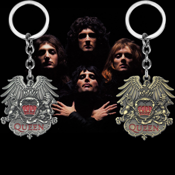 Rock Band Keychain Punk Antique Metal Fans Key Ring Holder Car Bag Chaveiro Chain Pendant Men Jewelry - discount item  35% OFF Fashion Jewelry