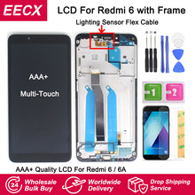 Ips originais lcd para xiaomi redmi 6 tela do painel de toque digitador assembléia com tela quadro para redmi 6a lcd redmi 6 display