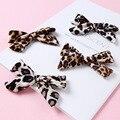 С леопардовым принтом детские заколки для волос из бархата для детей; Заколка для волос для девочек; С рисунком, заколка для волос для малень...