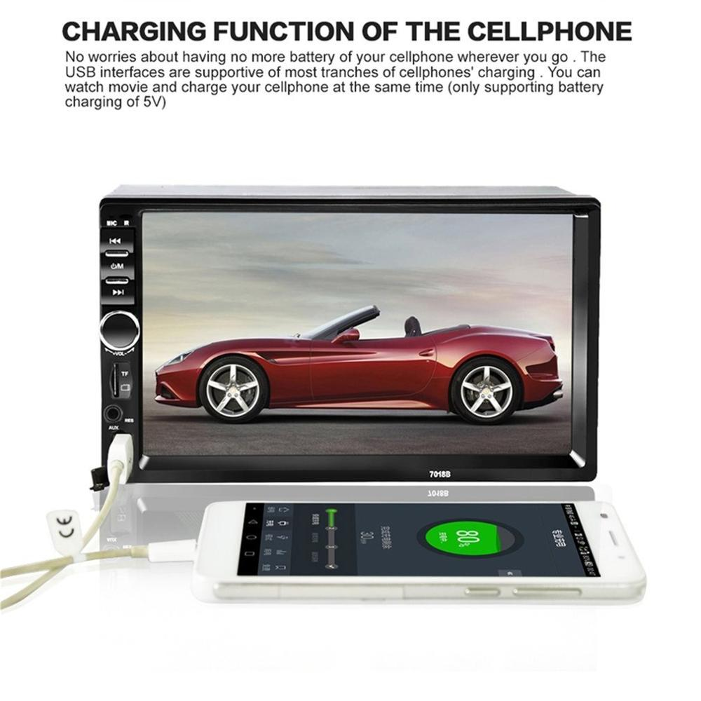 Car Video Player 7 Inch Audio Stereo MP5 Player Audio Car Radio FM USB Player Support for SD/MMC 7018B|Car MP4 & MP5 Players| |  - title=