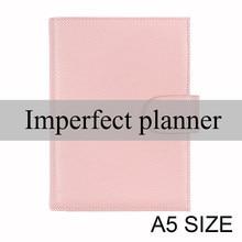Limitado imperfeito genuíno lichia grão couro do caderno a5 capa planejador diário papelaria agenda organizador