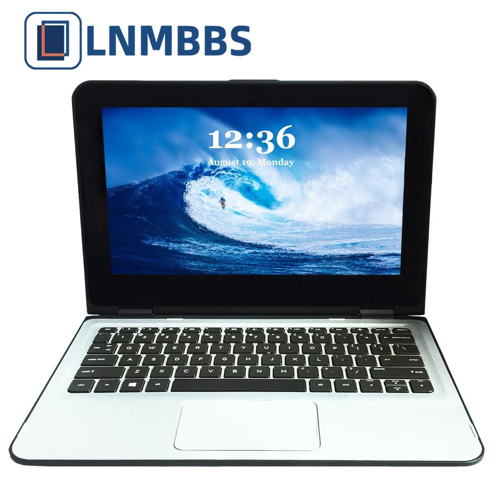 LNMBBS X36 11.6inch Laptop Window 10 Notebook RAM 4GB 120GB SSD 1366*768 Ips N3700 Wifi HDMI Camera Touch Screen Office Computer
