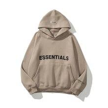 Outono inverno hoodies essentials doce letras reflexivas imprimir unisex velo flanela pulôver moletom bolso solto hoodies