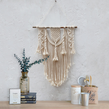 Handmade Bohemian Tapestry Macrame Wall Hanging  Christmas Decorations Fireplac for Home