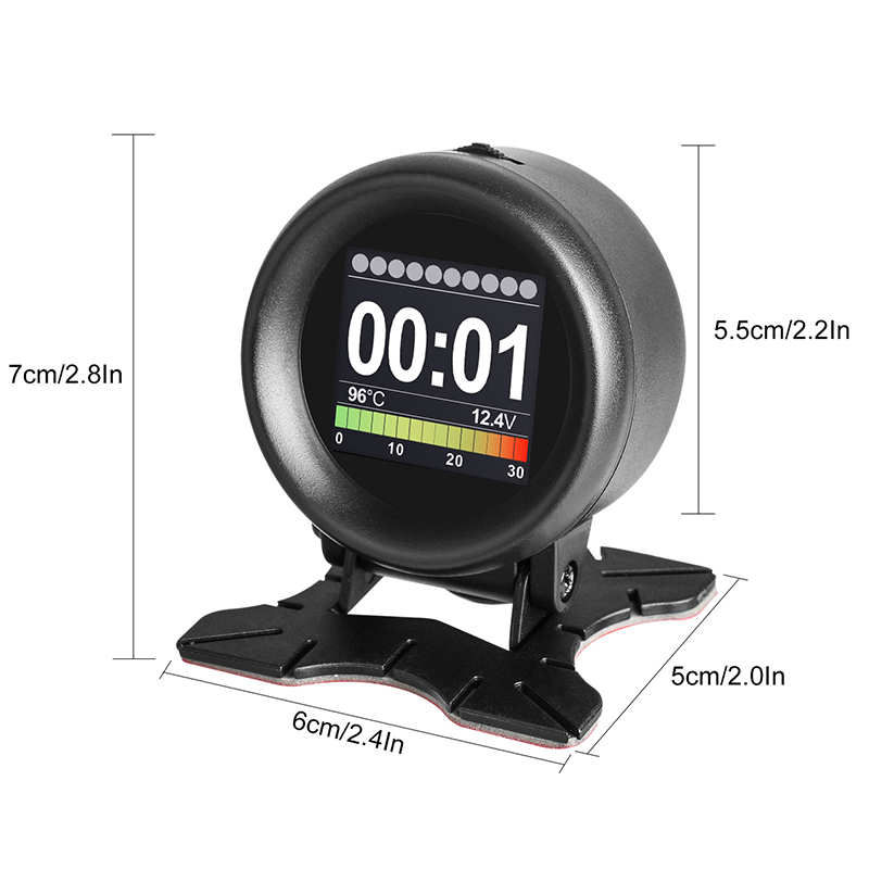 MR CARTOOL M3 Car OBD2 HUD Head-Up Display GPS Speedometer Overspeed Warning Oil Water Temp Gauge Digital OBD2 Diagnostic Tool 3