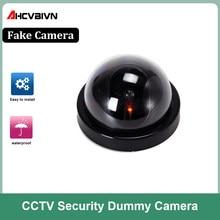 Wireless Home Sicherheit Gefälschte Kamera 1Pcs Simulierte Video Überwachung Indoor/Outdoor Flash Blinkt LED Dummy Fake-Dome Kamera